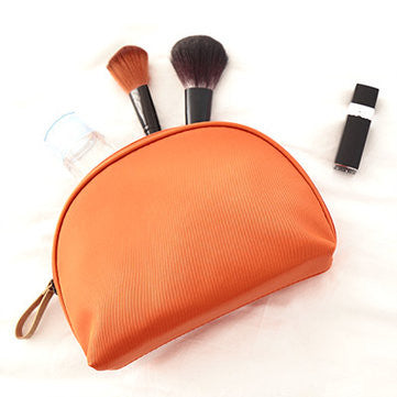 Fan-shaped Waterproof Portable Makeup Bag Nylon Mini Comestic Storage Travel Toiletry Organizer - MagCloset