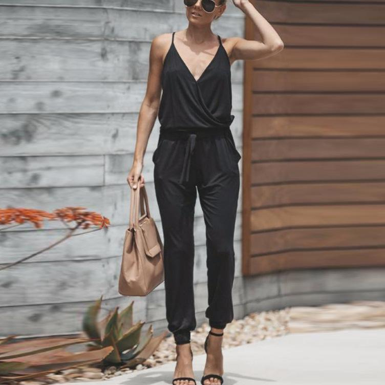 New Sling V-Neck Jumpsuits