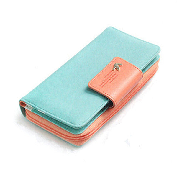 Long Zipper Wallet Large-Capacity Buckles Card Holder Wallet - MagCloset