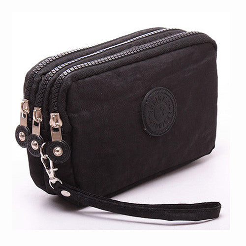 CLEARANCE-Women Nylon Multi-Pocket Phone Clutch Daily Capacity Wallet Coin Card Key Holder Purse
