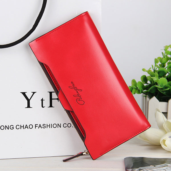 Women fashion long wallet clutches multi-function cellphone bags