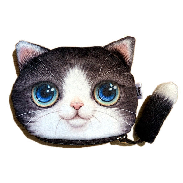 CLEARANCE-Women Cute Purses 3D Cartoon Cat Pattern Coin Purse