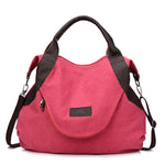 Large Capacity Retro Canvas Handbag Crossbody bag - MagCloset
