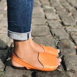 Simple Fish Toe Solid Color Sandals