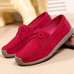 Cowhide Leather Slip On Tassel Leisure Snail Shoes For Women
