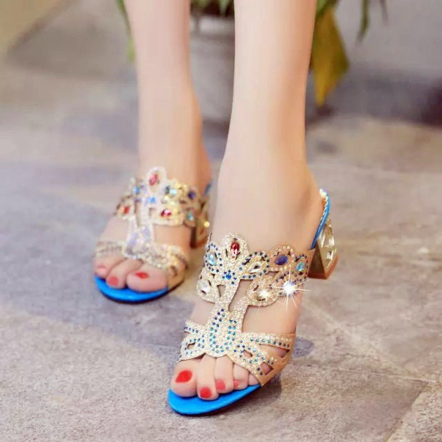 Sexy Women Summer Sandals  Ladies High Heels Shoes Pumps Slippers
