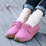 Cowhide Leather Slip On Tassel Leisure Snail Shoes For Women - MagCloset