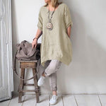 Casual Irregular Loose Fitting Dress Shirts - MagCloset