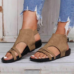 Fashion Hollow Plain Flat Buckle Sandals