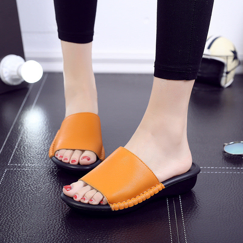 Cool Slippers Fashion Thick-bottomed Lazy Slippery Slips - MagCloset