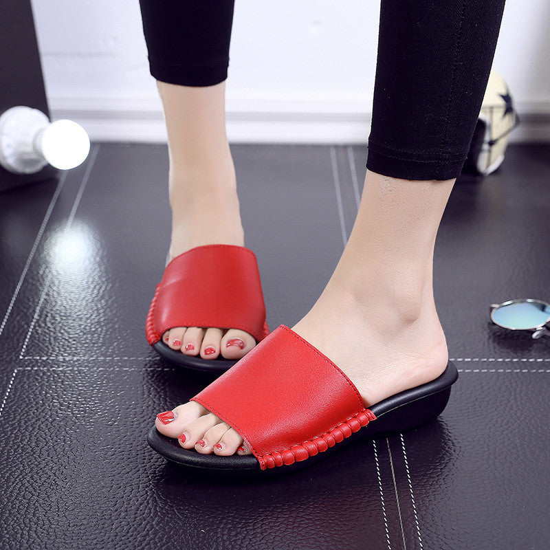 Cool Slippers Fashion Thick-bottomed Lazy Slippery Slips