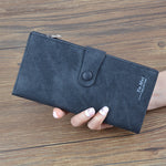 CLEARANCE-PU Leather Denim Pattern Phone Bag 3 fold Zipper Long Wallet
