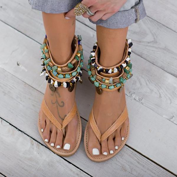 Bohemian Vacation Flat Beach Sandals