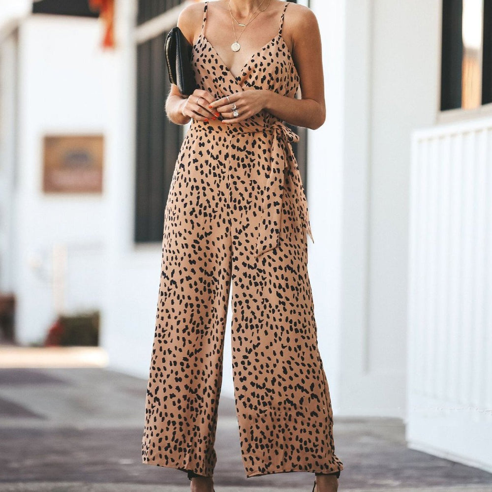 Sexy Suspenders Halter Lace Jumpsuit