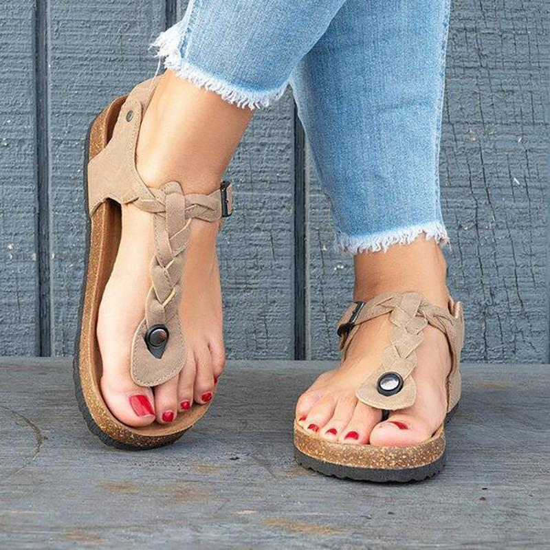 Women PU Sandals Casual Flip Flops