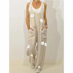 Big Pockets Buttoned Printed Jumpsuit