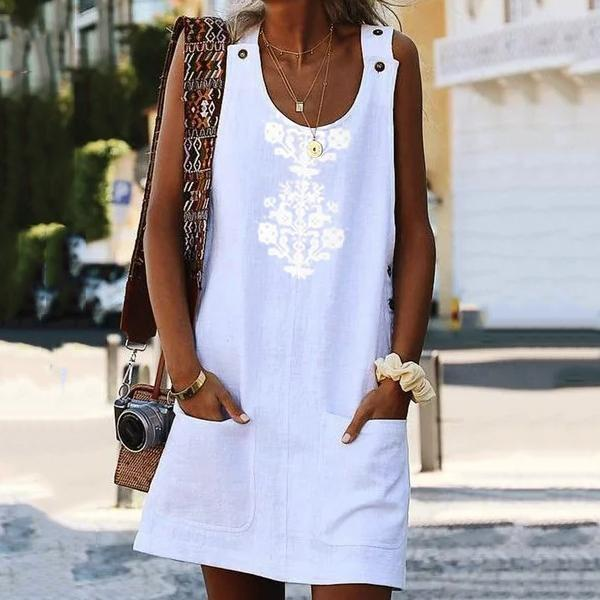 Bohemian Printed Sleeveless Dresses