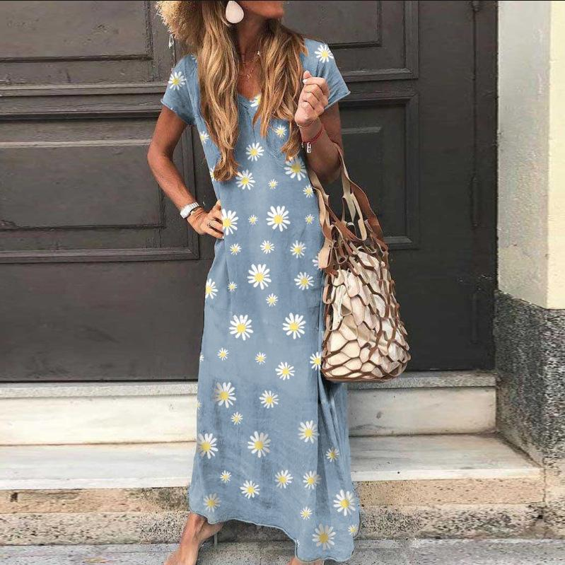 Daisy Printed Maxi Dress