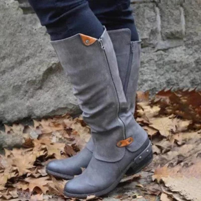 Fashion Side Zipper Boots