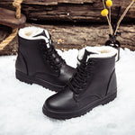 Womens Keep Warm Lace Up Ankle Snow Boots