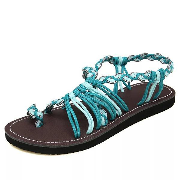 Casual Flat Heel Beach Woven Sandals
