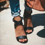 High-heeled Chunky Strap Fashion Sandals