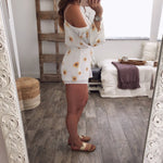 Summer V-Neck Sexy Strapless Print Jumpsuit