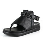 Genuine Leather Clip Toe Sandals