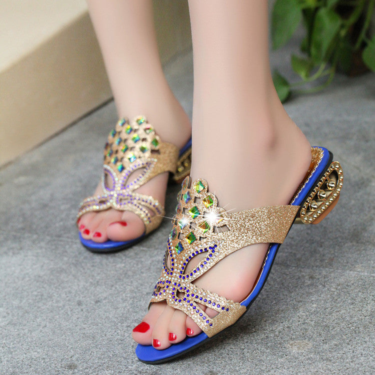 Women Summer Sandals  Sexy Fashion High Heels Shoes Pumps Slippers