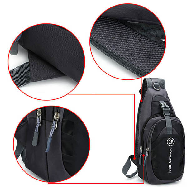Men Women Waterproof Sport Chest Pouch Shoulder Crossbody Bag - MagCloset