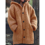 Women's Hooded Plus Size Cardigan Sweater Coats