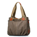 Canvas Portable Shoulder Bag Ladies Crossbody Bag - MagCloset