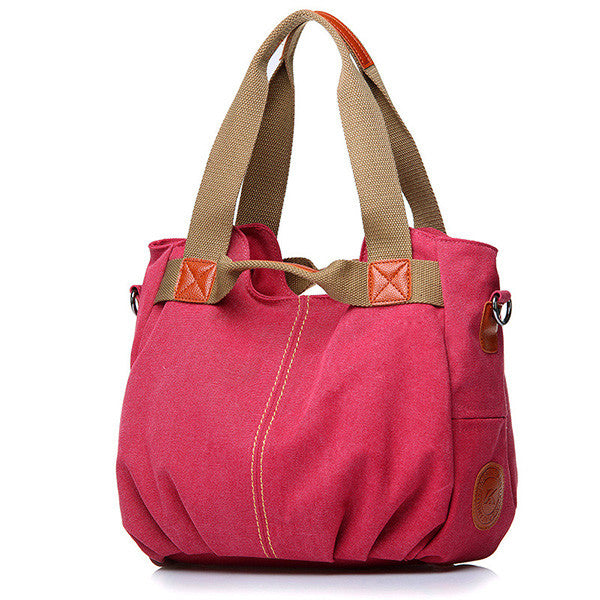 Canvas Portable Shoulder Bag Ladies Crossbody Bag