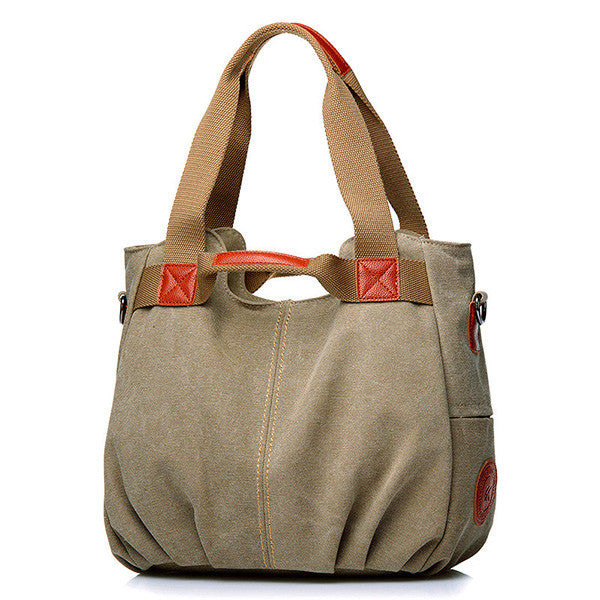 CLEARANCE-Canvas Portable Shoulder Bag Ladies Crossbody Bag