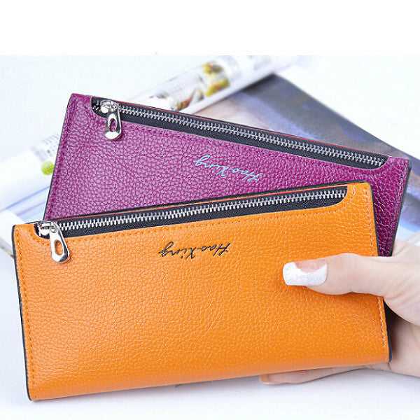CLEARANCE-Korean Style Ladies Long Wallet Fashion Simple Women's Thin Purse