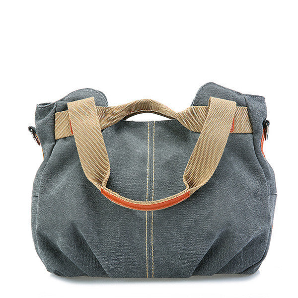 Canvas Portable Large-Capacity Shoulder Bag Ladies Crossbody Bag - MagCloset