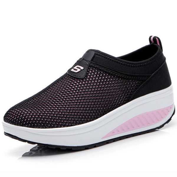 2018 Breathable Mesh Casual Sport Platform Rocker Bottom Shoes - MagCloset