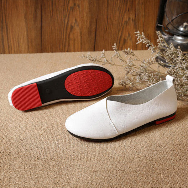 Retro Handmade Soft Sole Comfortable Flat Loafers Shoes
