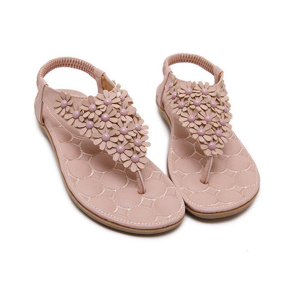 Summer Casual Bohemia Beach Flower Sandals