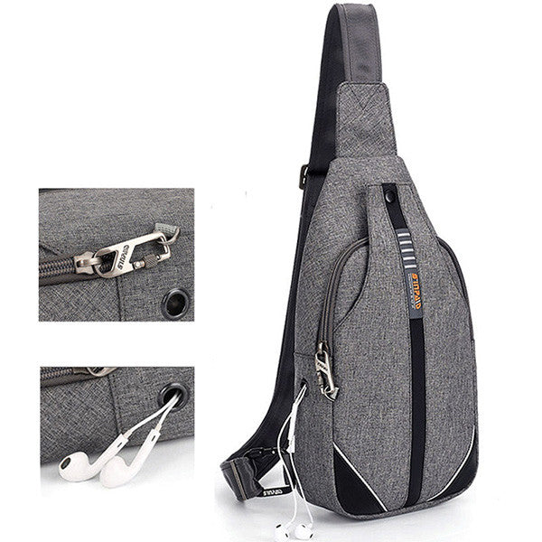 CLEARANCE-Anti-theft Cotton & Linen Chest Pack Crossbody Bag