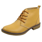 Large Size Leather Lace Up Ankle Knight Boots Retro Martin Boots