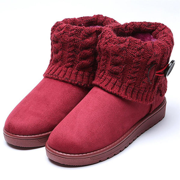 Winter Keep Warm Knitting Wool Short Snow Boots