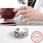 S925 Sterling Silver Retro Ring