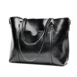 MagCloset Genuine Leather Retro Large Capacity Tote Bag - MagCloset