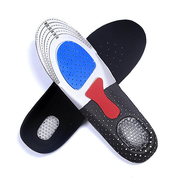 Free Size Unisex Gel Orthotic Sport Shoe Pad Arch Support Insoles Insert Cushion