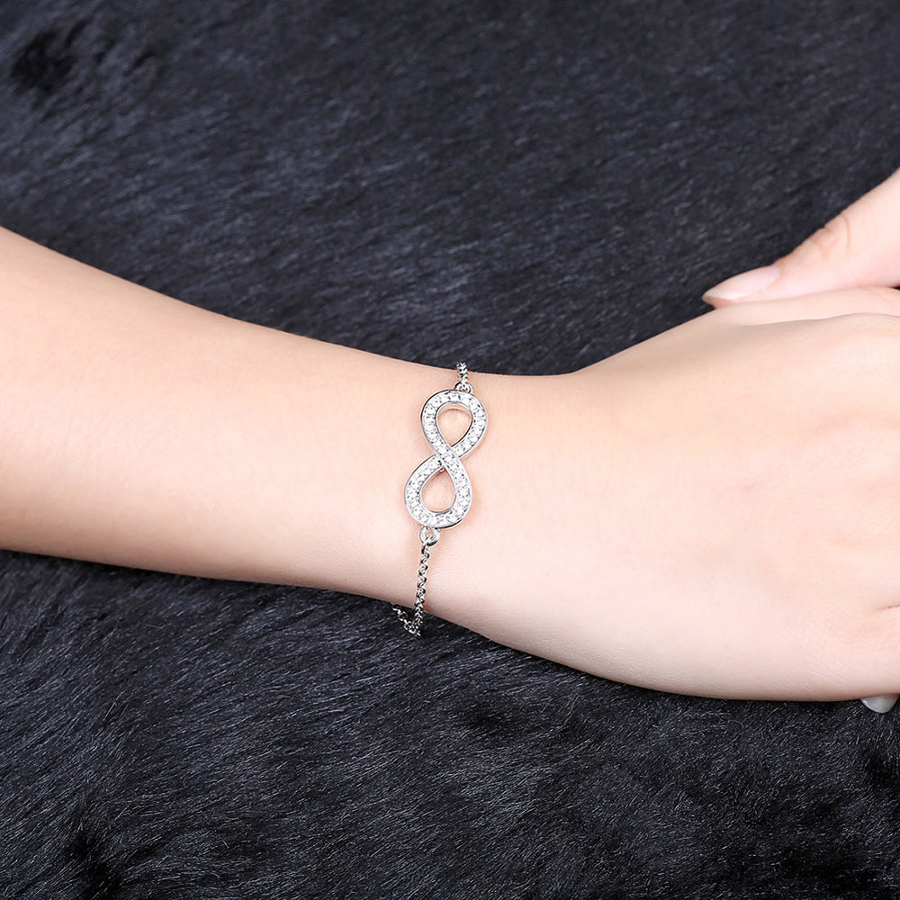 Fashion rose gold infinity bracelet - MagCloset