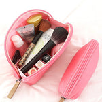 Fan-shaped Waterproof Portable Makeup Bag Nylon Mini Comestic Storage Travel Toiletry Organizer