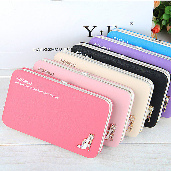 Universal Women High Heel 5.5 Inches Phone Wallet Card Purse