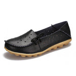 Breathable Strar Hollow Out Soft Leather Flat Loafers Shoes - MagCloset