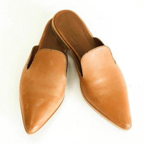 Pointed Low Heel Comfortable Slippers